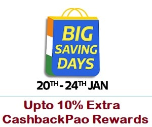 Big Saving Days 20th-24th Jan | Upto 90% off + 10% instant off via HDFC Bank