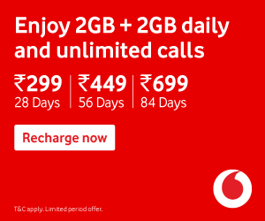 Enjoy 2GB+2GB Daily Data + Unlimited Calls + ZEE5 Subscriptions Free on Vodafone Prepaid Recharge