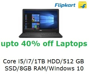 Up to 40% Off on Best Selling Laptops from HP, Dell, Lenovo & More