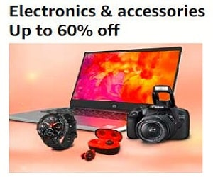 Upto 60% off on Electronics & Accessories