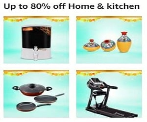 upto 80% off on Home & kitchen appliances