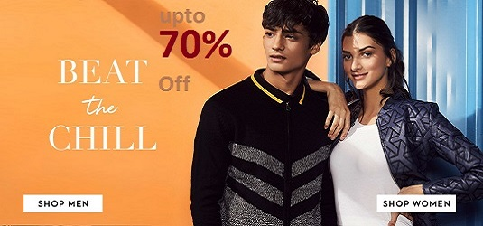 Beat the Chill, Winter Wardrobe up to 70% off on Koovs