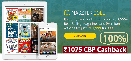 Enjoy 1 year of unlimited access to 5000 best selling magazines and premium articles for just Rs. 99